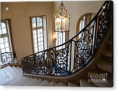 Paris Rodin Museum Staircase - Rodin Museum Entry Staircase Chandelier Architecture - Musee Rodin Acrylic Print