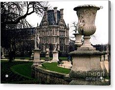 Paris Louvre Tuileries Park - Jardin Des Tuileries Garden - Paris Landmark Garden Sculpture Park Acrylic Print