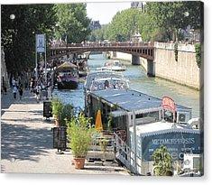 Paris - Seine Scene Acrylic Print