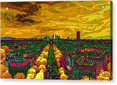 Paris Skyline Pop Art Acrylic Print by Eti Reid