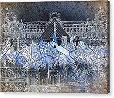 Paris Skyline Vintage Acrylic Print