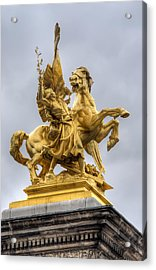 Paris Statue Acrylic Print by Ioan Panaite