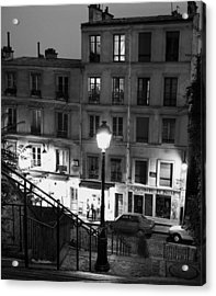 Paris-steps-montmartre Acrylic Print