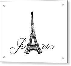 Paris  Acrylic Print by Steven  Taylor