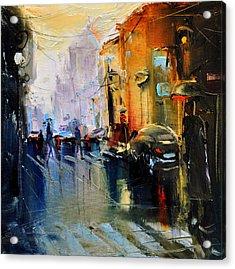 Paris Street Acrylic Print by David Figielek