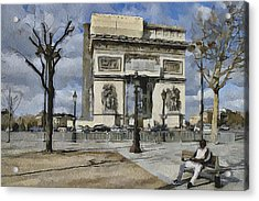 Paris Streets 2 Acrylic Print by Yury Malkov