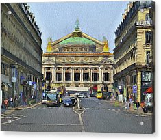 Paris Streets 6 Acrylic Print by Yury Malkov