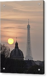 Paris Sunset I Acrylic Print