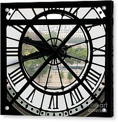 Acrylic Print featuring the photograph Paris Time by Ann Horn