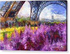 Paris Tour Eiffel 01 Acrylic Print by Yuriy  Shevchuk