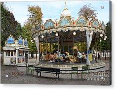 Paris Tuileries Park Carousel - Dreamy Paris Carousel - Paris Merry-go-round Carousel - Tuileries Acrylic Print