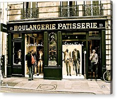 Acrylic Print featuring the photograph Paris Waiting by Ira Shander