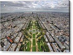 Paris Wide View Acrylic Print by Ioan Panaite
