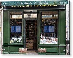 Paris Wine Store Acrylic Print by Georgia Fowler