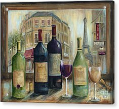 Paris Wine Tasting With A View Acrylic Print