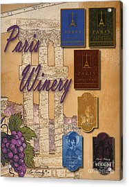 Paris Winery Labels Acrylic Print