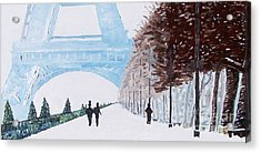 Paris Wintertime Acrylic Print by Kevin Croitz