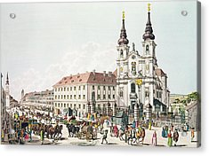 Parish Church And Convent Of Mariahilf, Vienna, 1783 Engraving Acrylic Print by Johann Ziegler