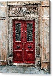 Parisian Door No.82 Acrylic Print by Joey Agbayani
