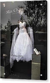Parisian Wedding Dress Acrylic Print by Glenn DiPaola