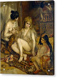 Parisiennes In Algerian Costume Or Harem Acrylic Print by Pierre-Auguste Renoir