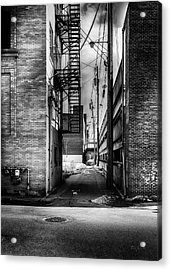 Park Alley Sunset Acrylic Print by Bob Orsillo