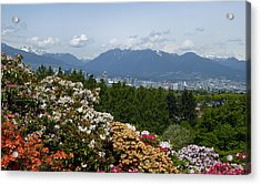 Acrylic Print featuring the photograph Park And City View by Laurie Tsemak
