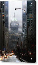 Park Avenue Dawn In Color Acrylic Print