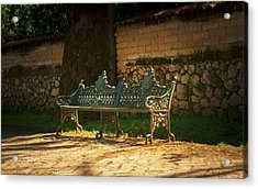 Park Bench Acrylic Print by Aged Pixel