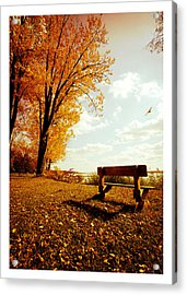 Park Bench Acrylic Print by Chris Babcock