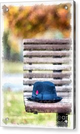 Park Bench Acrylic Print by Edward Fielding
