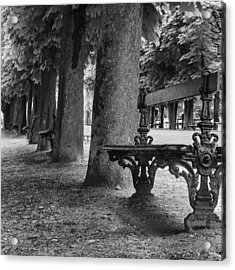 Park Bench In Paris Acrylic Print