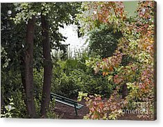 Acrylic Print featuring the photograph Park Bench by Kate Brown