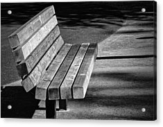 Park Bench Acrylic Print by Ludwig Keck