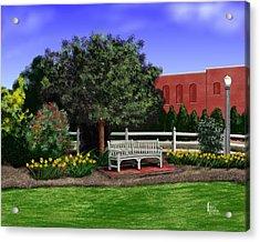Park Bench Acrylic Print by Patrick Belote