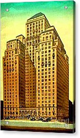 Park Central Hotel In New York City Acrylic Print by Dwight Goss