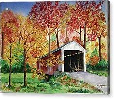 Park County Covered Bridge Acrylic Print by Anita Riemen