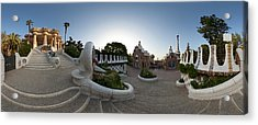 Park Guell, Barcelona, Catalonia, Spain Acrylic Print by Panoramic Images