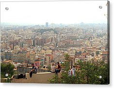 Park Guell Barcelona Acrylic Print by Jon Cotroneo