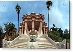 Park Guell By Architect Antoni Gaudi Acrylic Print by Panoramic Images