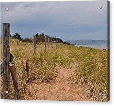 Park Point Minnesota Beach Entrance Acrylic Print
