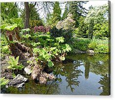 Acrylic Print featuring the photograph Park Pond by Laurie Tsemak