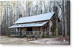 Park Ranger Cabin Acrylic Print by Charles Hite