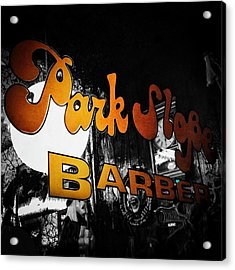 Park Slope Barber Acrylic Print by Natasha Marco