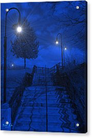 Park Stairs Acrylic Print by Michael Rucker