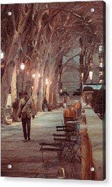 Park Walk Acrylic Print by Emmanouil Klimis