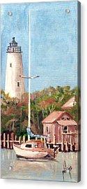 Parked By Ocracoke Acrylic Print by Jim Phillips