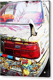 Parked On A New York Street Acrylic Print by Sarah Loft