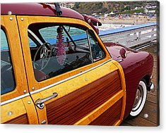 Parked On The Pier Acrylic Print by Ron Regalado