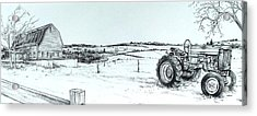 Parked Tractor  Acrylic Print by Scott Nelson
